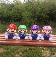 özgür luigi bebekleri toptan satış-20 CM Süper Marioe Brose Peluş Oyuncaklar Marie Luigi Yumuşak Dolması Bebekler Çocuk Hediyeler ücretsiz kargo