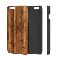 Wholesale Iphone Hard Case Zebra - Premium Zebra Wooden Phone Case for Apple IPhone Hard PC Back Cover Cell Phone Accessories for IPhone 5 6 6plus 7 7plus