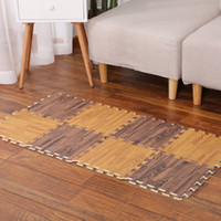 Wholesale pvc wood flooring for sale - Group buy Foam Floor Mat Imitation Wood Stitching Cushion Pieced Carpet Bedroom Environment For Children Crawling Mats Thicken Anti Skid Pad th F