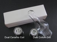 glass globe tank metal coil NZ - Cannon Vase Coil Glass Globe Atomizer Dry Herb Vaporizer Replacement Wax Vapor Tank with Metal Ceramic Coil Head for EGO T Evod Battery