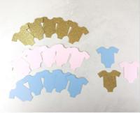Wholesale Cheap Decorative Paper - cheap 2017 Custom 150pcs glitter Gender Reveal confettis wedding table scatters Christmas bridal shower bachelorette party decorations