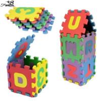 Wholesale Age 13 - Wholesale-36pcs set Unisex Mini Puzzle Age 1~6 Kid Educational Toy Alphabet A - Z Letters Numeral Foam Mat for Children