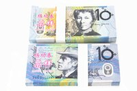 Wholesale Australian Souvenirs - 100PCS AUD10 Australian Movie Props Money Banks Staff Learning Trainings Banknotes Holiday Home Decoration Souvenir Arts Collectible Gifts