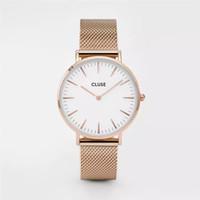 Wholesale Drop Pins - Top Luxury Brand Watch New Men Women Casual Stainless Steel Mesh Belt Watches Mens Wrist Watch Relogio Masculino Drop Shipping