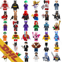 Super Hot Men Pas Cher-Hot Sale Bat Movie Figures Super Collection Heroes Batgirl Joker Bat Man Harley Quinn Golden Robin Super Hero Mini Building Blocks Figure