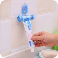 Wholesale Tube Squeezer Free Shipping - 1 pc Plastic Rolling Tube Squeezer Useful Toothpaste Easy Dispenser Bathroom Holder Free Shipping