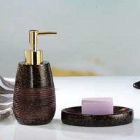 Wholesale Hand Sanitizer Bottles - Bathroom Set Toiletries Creative Piece Of European Hand Sanitizer Bottle Soap Dish Toothbrush Holder Accessories Soft Loading