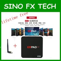 Wholesale Iptv Chinese Channels Box - EVPAD PRO Android TV BOX Korean Malaysia Japan CN HK TW SG 1700+ Channels IPTV lifetime free for overseas chinese