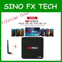 android chinese fernseher großhandel-EVPAD PRO Android TV-BOX Koreanisch Malaysia Japan CN HK TW SG 1700+ Kanäle IPTV - Lifetime für ausländische Chinesen
