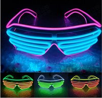 20 unids / Voice Activate EL Wire 2Color Light LED Glasses Cold Light Party Glasses Bar Club Performance Glow Party DJ Dance Eyeglasses Juguetes Led