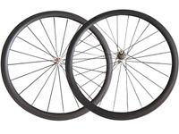 bicicleta senta-se venda por atacado-700C U Forma SAT Sem orifícios exteriores 25mm Largura 38mm clincher rodas de carbono rodado de bicicleta de estrada Tubeless ready compatível