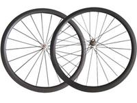 Wholesale U Wheels - 700C U Shape SAT No outer holes 25mm Width 38mm clincher carbon wheels road bike wheelset Tubeless ready compatible