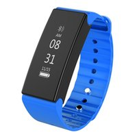 Wholesale Cameras Moniter - 50pcs By DHL Bluetooth 4.0 Smart Wristband Heart Rate Moniter Pedometer Sport Smartband 0.86 inch IP67 Waterproof for Android iOS