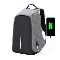 Wholesale Vintage Usb - Fashion Canvas Men Backpack Anti Theft With Usb Charging Laptop Business Unisex Knapsack Shoulder Waterproof Women Travel Bag