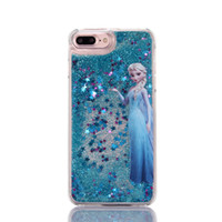 """Wholesale Iphone Little Mermaid - Cartoon colored drawing Little Mermaid Liquid quicksand stars soft PC back cover case for iphone 5 5s SE 6 6s 4.7"""" 6 6s plus phone case"""