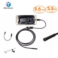 6 LED 5,5 mm Lentille Android USB Endoscope Waterproof Inspection Borescope Tube Camera 3.5M CMOS