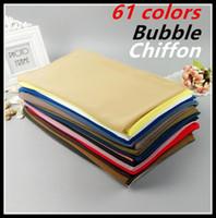Wholesale 75cm Shawl - Wholesale- H8 10pcs 61colors s Top quality plain bubble chiffon wrap shawl women scarf 180*75cm can choose colors