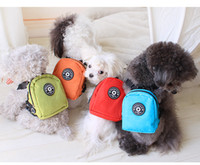 Wholesale Petstyle Pet Dog Bag Backpack With Leash Cute Pet Dot Outdoor Travel Snack Bag Carrier Giving Pet Traction Rope