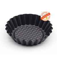 Wholesale Pie Tins - Wholesale- 6-Pack Flower Reusable Egg Tart Mould Cupcake and Muffin Baking Cup, Mini Pie Tin, Tartlet Pan 10.8*8*2.5cm