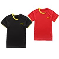 Wholesale Green Fast Dry Shirt - New tennis badminton   clothing   man   woman short sleeved shirts summer casual sportswear and fast dry air, free shipping