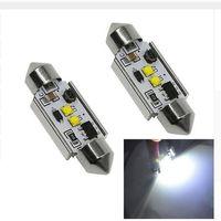 Wholesale 36mm High Power Festoon Bulbs - 100X High Power 10W 2 Cree Led Chip No Error Canbus c5w 36mm 39mm 42mm Dome Festoon LED Light Bulbs Free Shipping