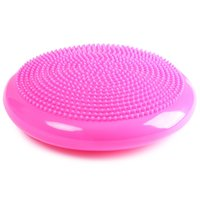 Wholesale stability exercises online - DIA cm Durable Universal Inflatable Yoga Wobble Stability Balance Disc Massage Cushion Mat Yoga Exercise Fitness Massage Ball