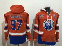 Wholesale team hockey jerseys orange resale online - New Oilers Hoodies Jerseys Mcdavid Gretzky Hockey Hoody Blue And Orange Color Stitched Size S XXXL All Teams Mix Order All Jerseys
