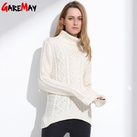 blue argyle sweater - Women Turtleneck Sweater Retro Argyle Tops Vintage Geometric Ladies Pullover White Pull Femme Winter Casual Sweater GAREMAY
