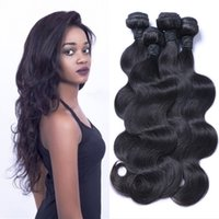 Wholesale Indian Natural Wave Hair Extensions - Brazilian Hair Weave Body Wave UNPROCESSED Remy Hair Wefts Cheap Wholesale Virgin Brazilian Indian Malaysian Peruvian Human Hair Extensions