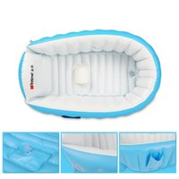 Wholesale inflatable child bathtub - Baby Swimming Pool Newborn Children Inflatable Bathtub Foldable Bath For Under 3 Years Old Portable Shower Basin Kid Supplies 31lb F1