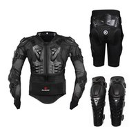Wholesale off road armor - Motorcycle Riding Armor Protective Gear Motocross Off-Road Enduro Racing Full Body Protector Jacket + Hip Pad Shorts + Knee Pads