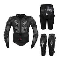 xxl körperrüstung großhandel-Motorrad Reiten Rüstung Schutzausrüstung Motocross Offroad Enduro Racing Ganzkörper-Protektor Jacke + Hip Pad Shorts + Knieschützer