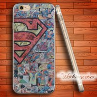 Wholesale Superman Iphone Silicone - Coque Comic Superman Soft Clear TPU Case for iPhone 7 6 6S Plus 5S SE 5 5C 4S 4 Case Silicone Cover.