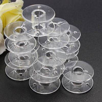 Wholesale Sewing Machines For Sale - Hot Sale 50pcs Hot Clear Bobbins Sewing Machine Plastic Spool Brother Janome Singer for Sewing Machine Home Sewing Tools