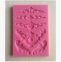 Wholesale lace silicone decoration for sale - Group buy Silicone Mold Lace Flower Border Small Craft DIY Gumpaste Cake Decorating Decoration Tools Baking Moulds