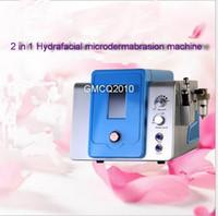 Wholesale diamond tip dermabrasion - Hydro dermabrasion facial machine water dermabrasion peel machine with professional 8 hydro tips and 9 diamond tips CE