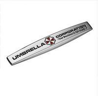ingrosso emblemi del motociclo cromato-Umbrella Corporation Resident Evil Zombie 3D Metal Car Auto Moto Badge Chrome Logo Emblem Sticker SUV Truck Car-Styling