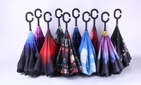 Wholesale Down Proof - Windproof Reverse Closing Double Layer Inverted Umbrella and Inside Out Upside Down Rain Protection ultraviolet-proof Travel Umbrella