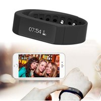 Wholesale Touch I5 - Wholesale-I5 Plus Smart Wristband Bracelet Bluetooth 4.0 Waterproof Touch Screen Fitness Tracker Health Sleep Monitor Smart Watch Sports