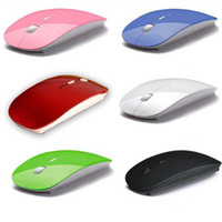 Wireless Mouse Optical Mouse 2.4G ultrasottili Slim Mouse ricevitore USB per PC laptop computer desktop Networking