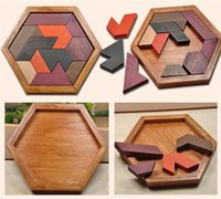 Wholesale Puzzles Jigsaws - Children Puzzle Wooden Toys Tangram Jigsaw Wood Board of Geometric Form P Children Educational Toys