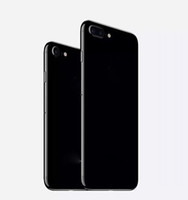 Wholesale Alloy Iphone Back - like 7 style jet black back housing For iPhone 6 6s 6+ 6s+ Alloy Back Cover Metal Battery cover