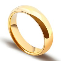 Wholesale Tungsten Celtic Couple Ring - Classic Gold Plating Tungsten Carbide Rings for Man Woman Lover Dome Band Alliance Bridal Jewellery Couples Ring