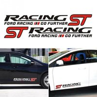 Wholesale Ford Focus St - 3D ST RACING Sticker for Ford Focus Focus 2 3 Removable Sticker for Mondeo Fiesta Chevrolet Cruze Mazda Car Accessories Car Dec