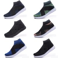 Wholesale ankle shop - Newest High Quality Women Men Air FLYNIT 5.0 RACER Running Shoes High Ankle Barefoot Free shopping Run Sports Sneakers Trainers Size 40-45