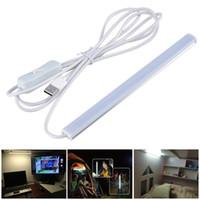 tubo de luz de trabajo al por mayor-2017 SMD2835 5V LED Tira USB LED Lámpara de mesa de escritorio Luz para libro de cabecera Estudio de lectura Trabajo de oficina Niños Noche Luz led tubos
