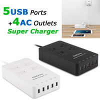 Wholesale Surge Outlet Strip - DiGiYes 2500W 4-Outlet 5 Port USB Charging Hub Home and Office Power Strip Surge Protector with 5 Feet Cord for Phones Tablets CHA_041
