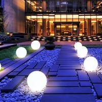 beste outdoor-gartenleuchten großhandel-Neueste wasserdichte Solar-LED-Kugel-Lichtlampe RGB mit Fernsteuerungsdekor-Lampe für Christams