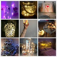 Wholesale Wholesale 6v Batteries - 10M 100 LED 3AA Battery Operated Copper Wire Colorful Tiny String Fairy Light for Christmas Holiday Wedding Party Decoration