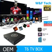 Wholesale Android 2ghz - T6 S905X Android 7.1 TV Box KD 17.1 Fully Loaded Quad Core ARM Cortex A53 2GHz 2G 16G Media Player